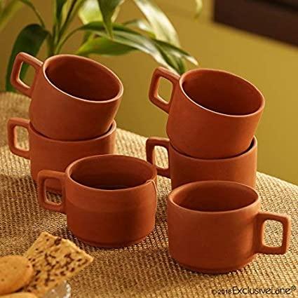 earthen tea set
